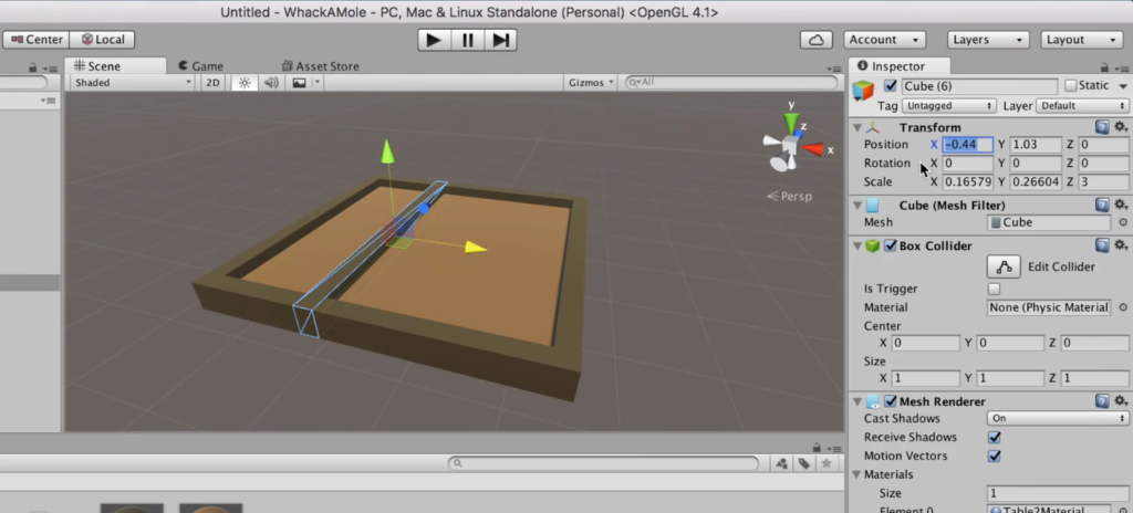 Splitting a Table into Sections in Unity