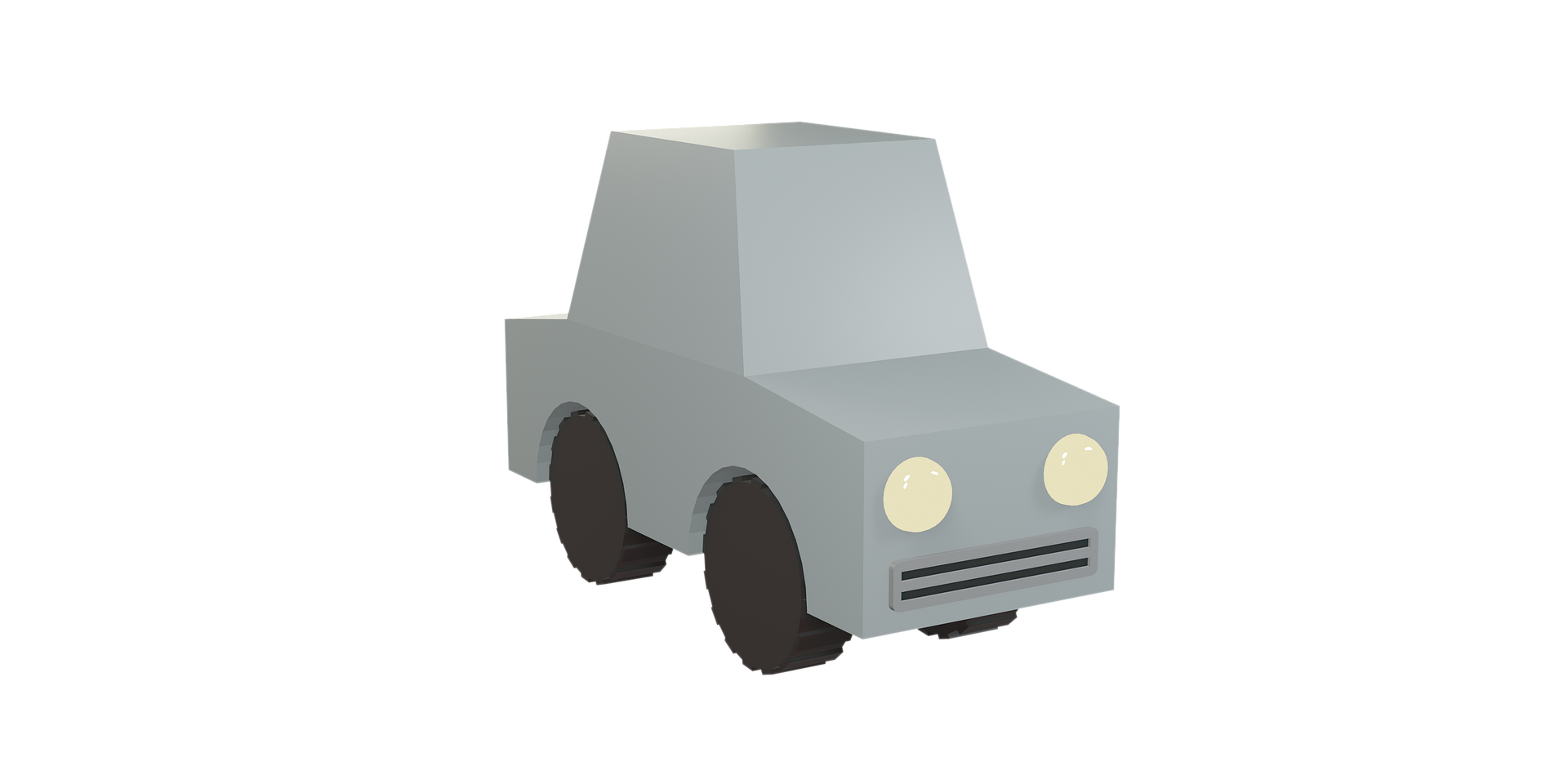 3d low poly model of car