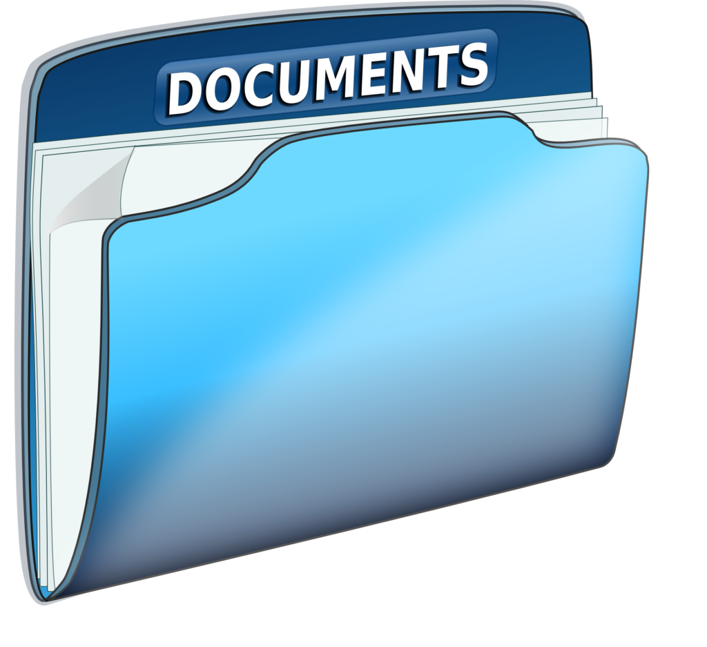 blue documents folder graphic