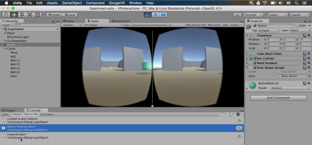 raycasting working in unity