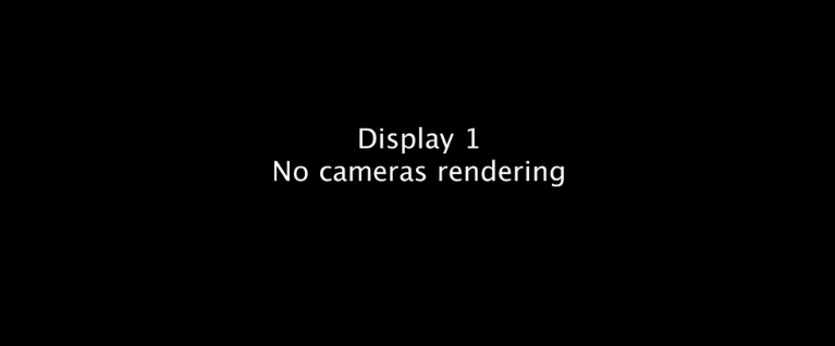 the game view with no cameras rendering in unity