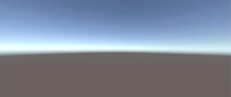 the game window showing an empty project in unity
