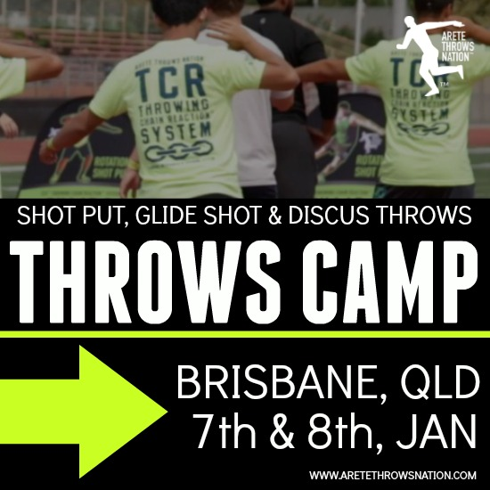 holiday shot put and discus throws camp brisbane QLD