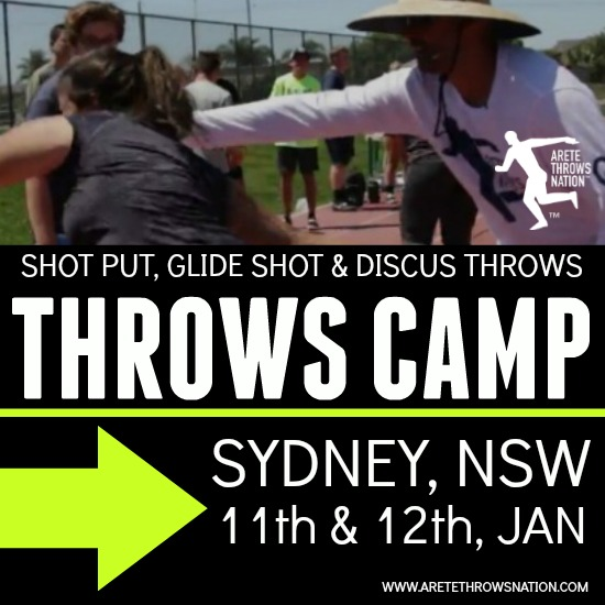 holiday shot put and discus throws camp