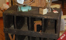 Wood Storage Cubbies