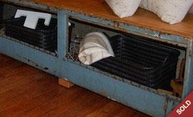 Repurposed Metal Toolbox Bench