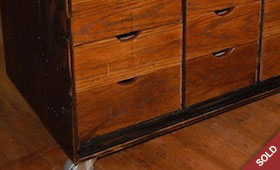 Vintage Handmade Wood Toolbox