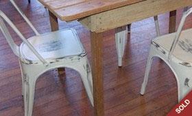 Farm Table & Metal Chairs