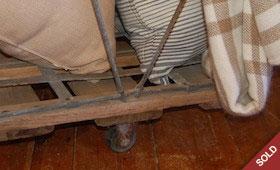 Vintage Laundry Basket on Casters