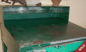Tall Green Industrial Desk
