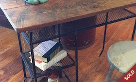 Reclaimed Wood Top Desk
