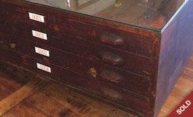 Metal Flat File Coffee Table