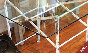 Glass Top Desk/Table