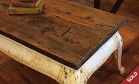 Cast Iron Stove Base Coffee Table