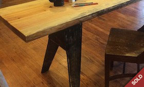 Pine Slab Table/Desk/Console