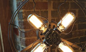 Repurposed Fan Light