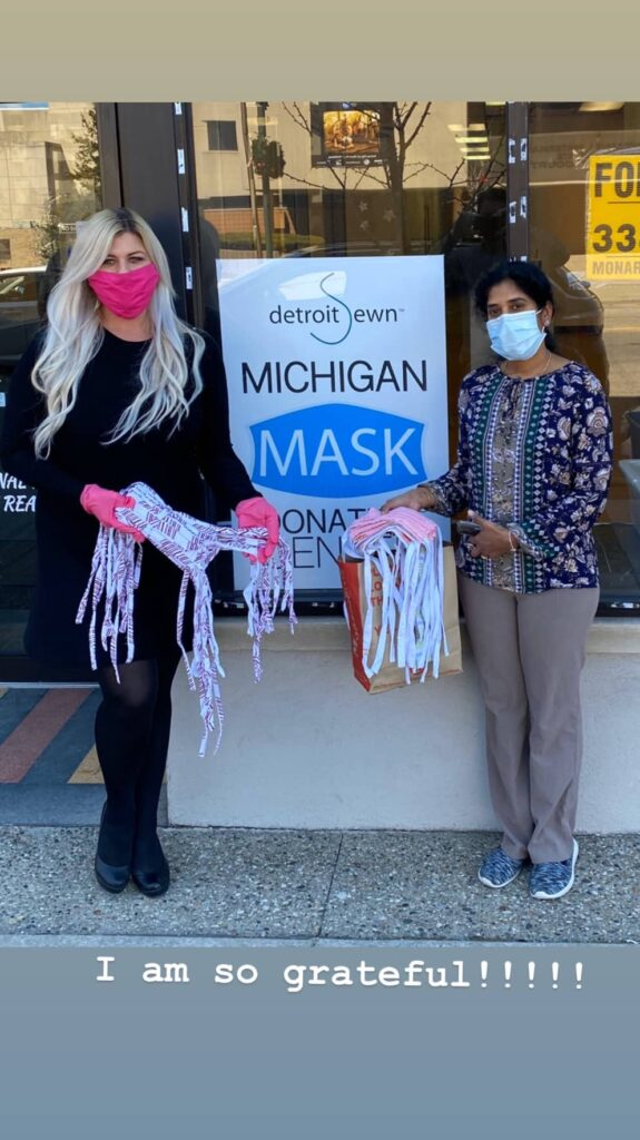 Michigan Mask Donation Center Glamorous Moms Foundation