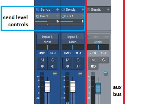 Aux and Send Bus Techniques