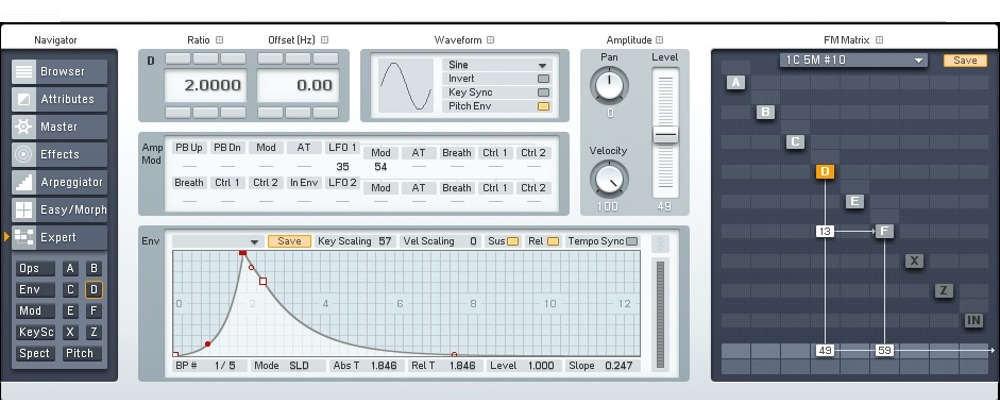 Native Instruments FM8 synthesizer