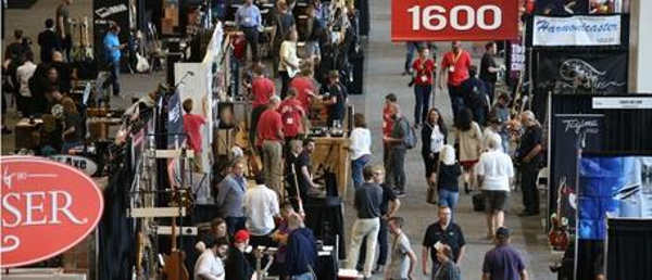 Image of the crowds at Summer NAMM 2018, held in Nashville, TN