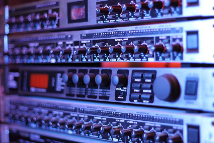 Image of rack processors in studio