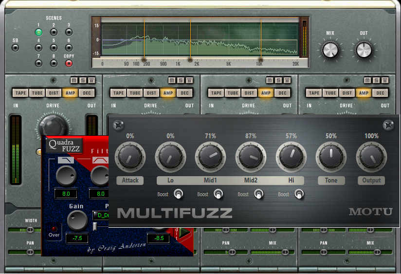 Three multiband distortion plug-ins based on the original hardware Quadrafuzz.