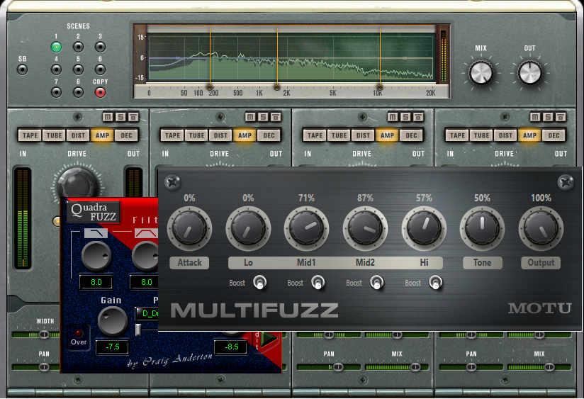 Three multiband distortion plug-ins based on the original hardware Quadrafuzz.