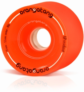 Orangatang 4 President Orange 70mm Longboard Wheels