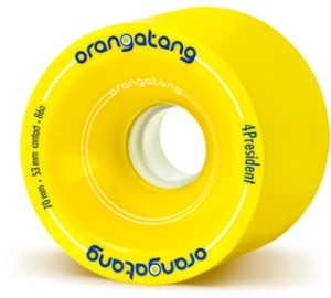 Orangatang 4President Yellow Wheels