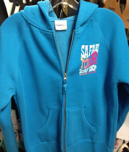 Safari Town Sherpa Fleece Day Dreamer Zip Hoodie