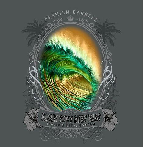 Safari Town Surf T-Shirt Green Dream