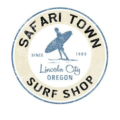 Safari Town Surf Shop Sticker