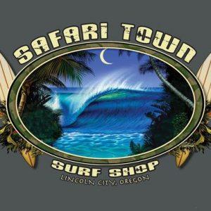 Safari Town Surf Moonlight Barrel Surf T-Shirt