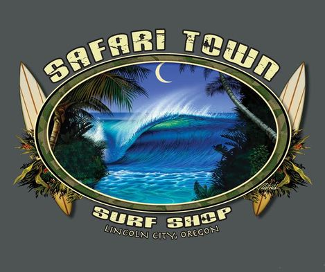 Safari Town Surf Moonlight Barrel Surf T-Shirt