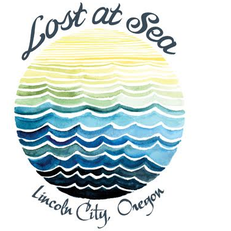 Lost at Sea in Lincoln City Sticker