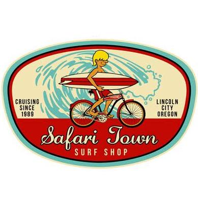 Safari Town Surf Bike & Surf Sticker