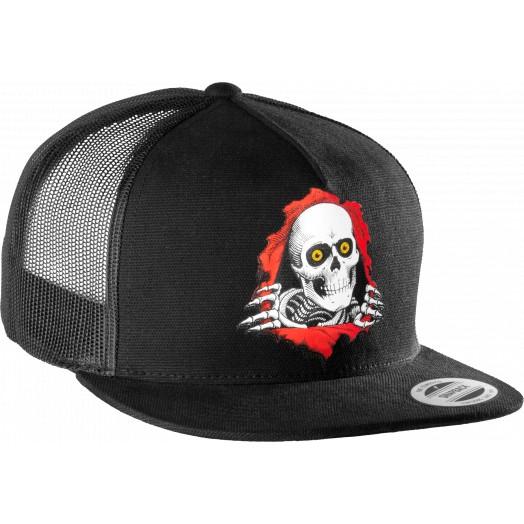 Powell Peralta Ripper Trucker Snapback Cap - Black