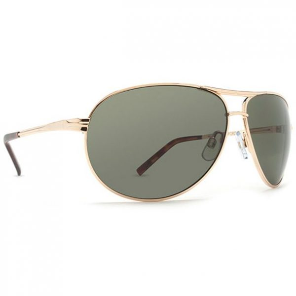 Dot Dash Buford T Gold Retro Grey Sunglasses