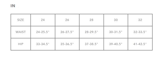 Dakine Women's Size Chart 2
