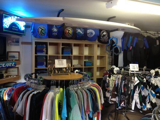 safari town surf shop inside store