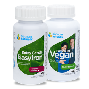 Platinum Naturals Vitamins for vegetarian diets available at the Organic Grocer