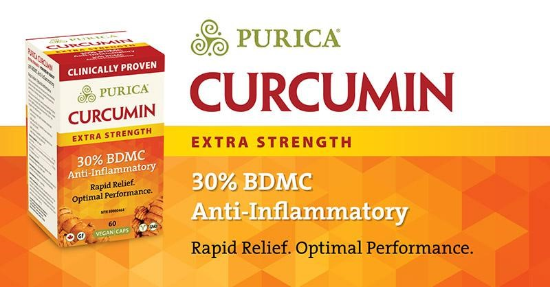 Purica Curcumin Extra Strength 30% BDMC Anti-Inflammatory - Rapid Relief.  Optimal Performance.