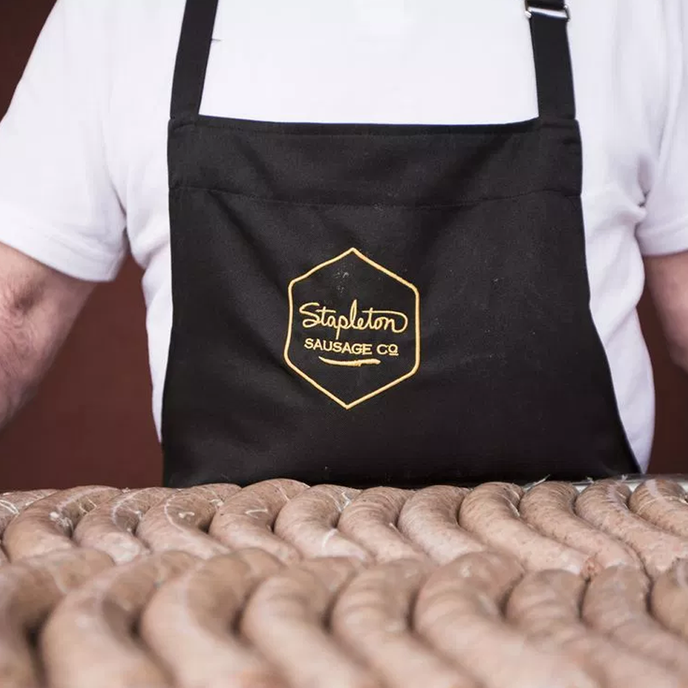 Handmade sausages in Surrey from Stapleton Sausage Co. at the Organic Grocer.