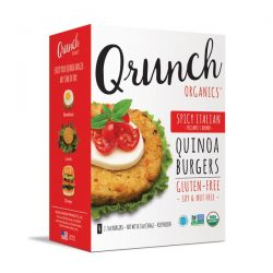 Qrunch organic meat alternatives - spicy italian quinoa burgers