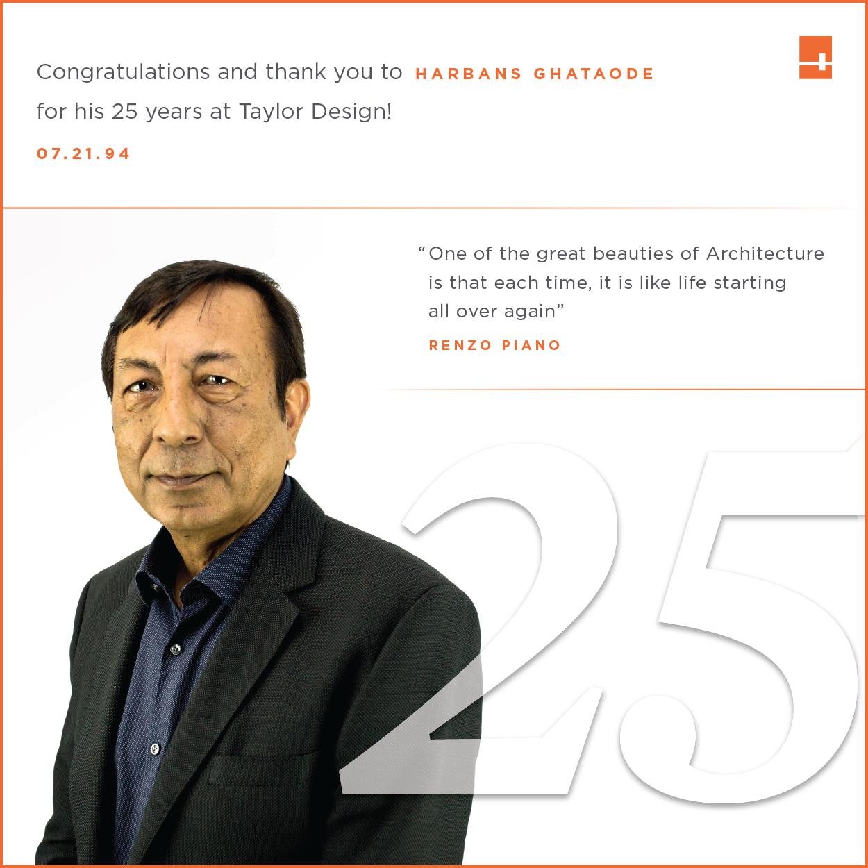 Harbans Ghataode - 25th Anniversary