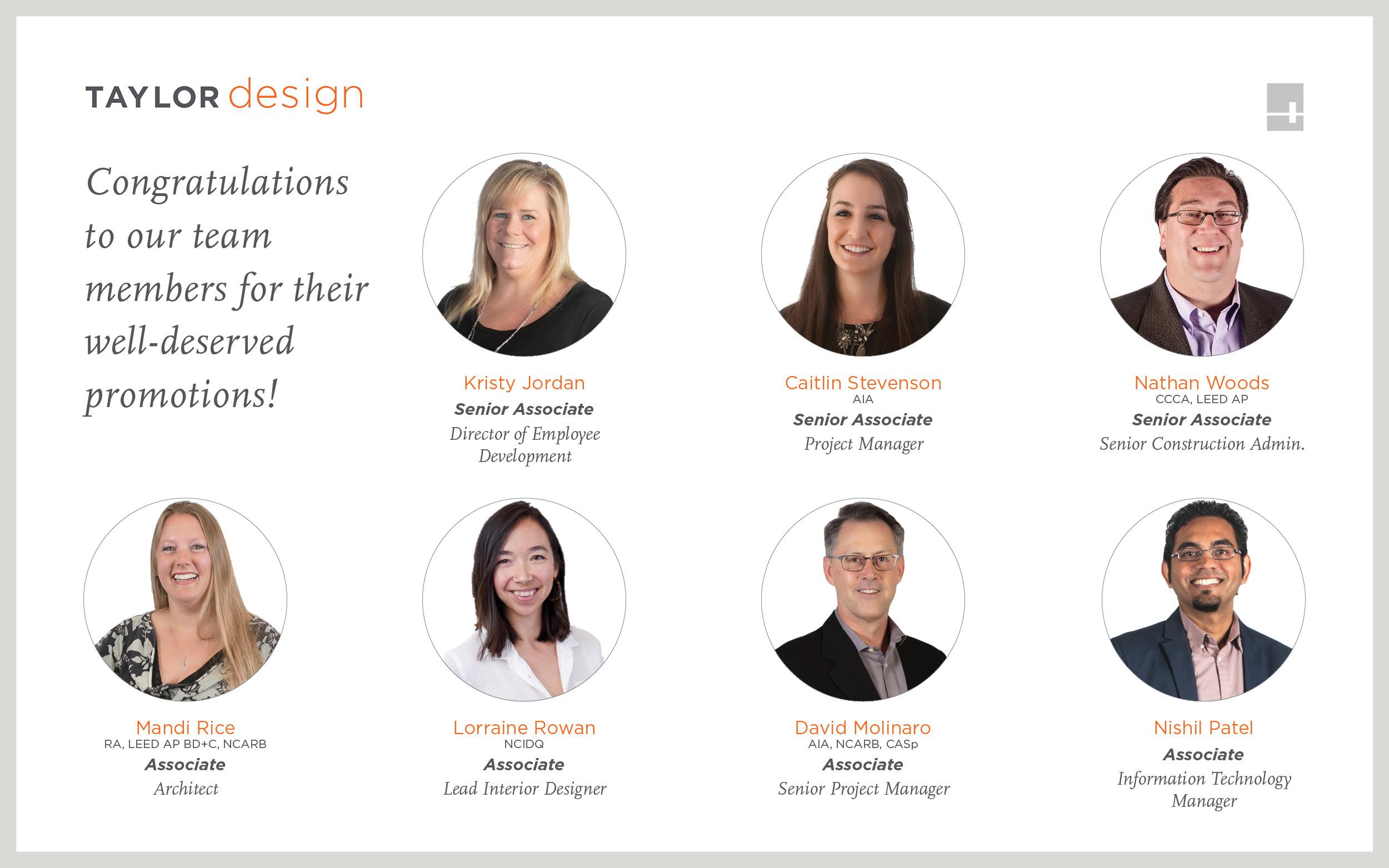 Taylor Design 2020 Promotions