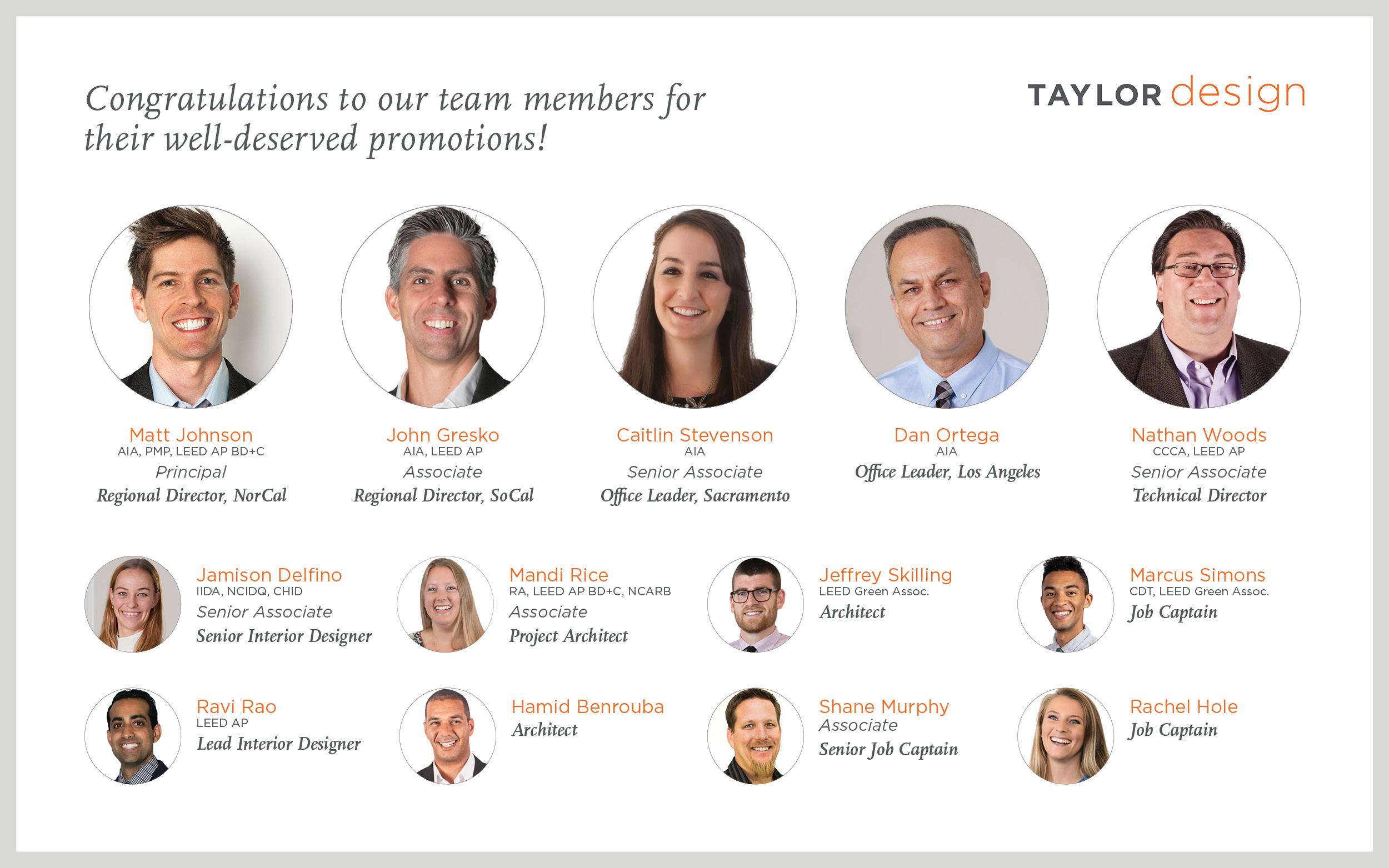 Taylor Design Promotions 2021