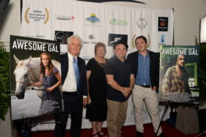 Frank Calo and Production Team at the premiere of the Tryon International Film Festival