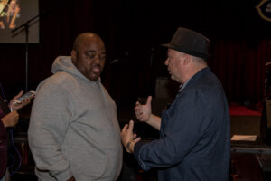 Frank Calo directing Actor/Comedian Gerard Kelly