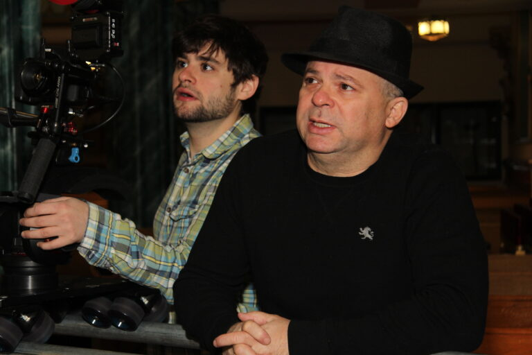Frank Calo on set